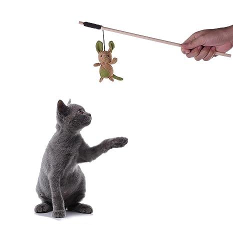 Awhao Palo divertido con el gato Ejercicio divertido Juguetes Mascotas Juguetes para gatos