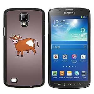"""Be-Star Único Patrón Plástico Duro Fundas Cover Cubre Hard Case Cover Para Samsung i9295 Galaxy S4 Active / i537 (NOT S4) ( Vaca de Brown Agricultura Animal Derechos Dibujo"""" )"""