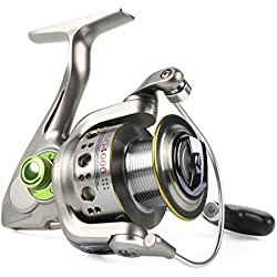 Sougayilang Fishing Reel Spinning 13+1bb Left/right Interchangeable Spinner Gear High Speed Smooth Bass Fishing Reels (SG4000)