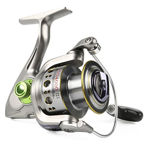 Sougayilang Fishing Reel Spinning 13+1bb Left/right Interchangeable Spinner Gear High Speed Smooth Bass Fishing Reels (Bass Spinning Reel)