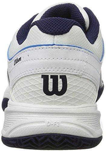 Wilson Tour Vision V Wh/Bl/Ny, Scarpe da Tennis Uomo, Bianco (White/methyl Blue/navy), 44 2/3 EU