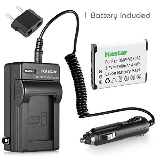 (Kastar VW-VBX070 Battery (1-Pack) and Charger Kit for Pentax D-Li88 Panasonic VW-VBX070 Sanyo DB-L80 DB-L80AU & Pentax Optio H90 P70 P80 W90 WS80 Panasonic HX-DC1 DC2 DC10 DC15 WA10 HM-TA2 TA20 Camera)