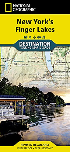 New York's Finger Lakes (National Geographic Destination Map)