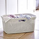 Curver Faux Rattan Laundry & Washing Basket 45L by Curver