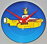 Yellow Submarine Picture Disc - The Beatles - Picture Disc Clock - Record Clock - The Beatles Gifts For Men - The Beatles Clock - Yellow Submarine Vinyl - Beatles Gifts