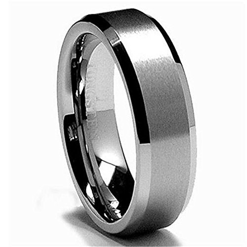 6MM Tungsten Satin Men's Wedding Band Ring Sz (Artcarved Wedding Bands Tungsten Ring)