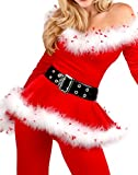 Lifashionie Christmas Santa Costumes for Women Mrs Claus Adult Cosply Outfit Red (M)