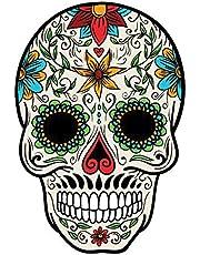 Solo E216 Skull Printed Car Sticker, 15 x 15 cm - Multi Color