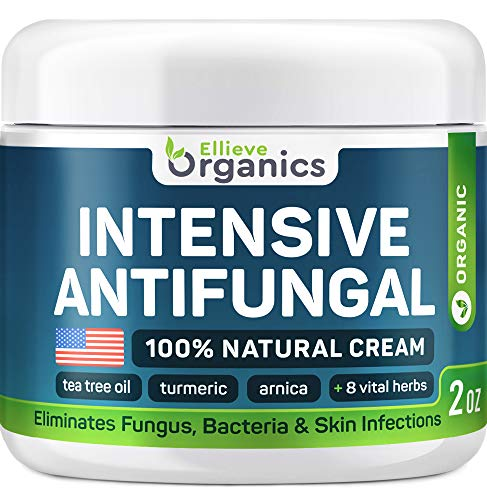 Antifungal Cream Extra Strength - Made in USA - Effective Toenail Fungus Treatment and Ringworm Treatment for Humans - Combats Body Acne, Athletes Foot, Jock Itch - 100% Natural - 2 OZ (Best Thing For Nail Fungus)
