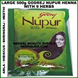 Godrej Nupur Natural Mehndi with Goodness of 9 Herbs – 450 Gm (Pack of 3)