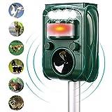 SONYANG Ultrasonic Animal Repeller, Solar Powered Waterproof Outdoor Repellent with Motion Sensor