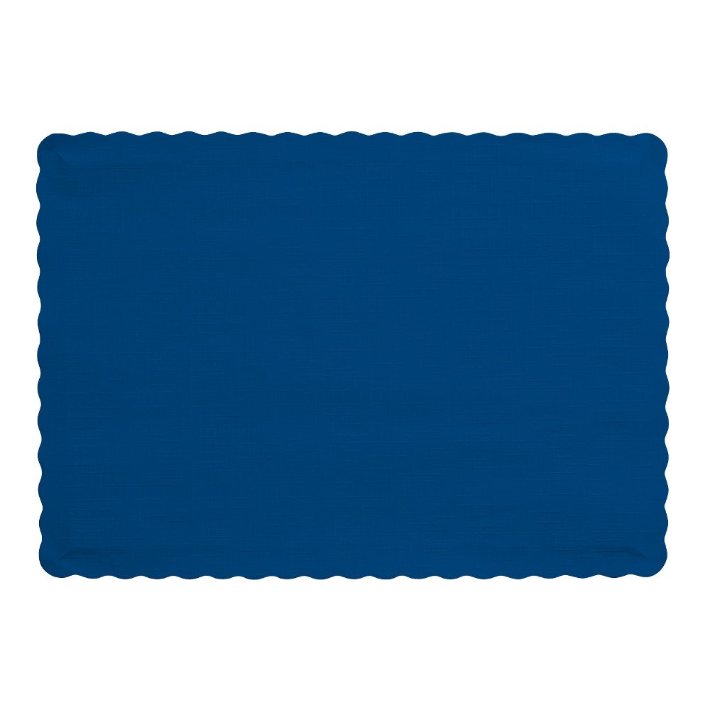 Creative Converting 50 Count Touch of Color Paper Placemats, Navy