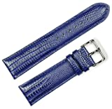 Teju Lizard Grain Watchband Navy 14mm Watch band - by deBeer