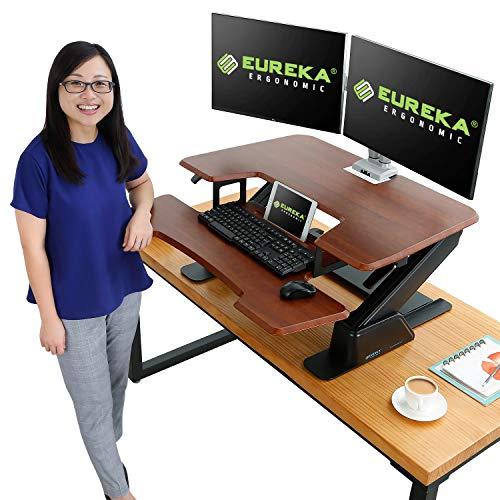 Eureka Ergonomic V1 Sit to Stand Desk Converter, 36'' Height...