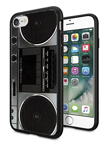 Matcase For iPhone 6 Case iPhone 6S Case - Vintage boombox Hard Clear Transparent Anti Scratch Resistance With Full Protection TPU Bumper Designer Case