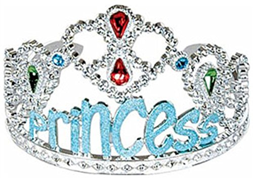 Miss Universe Pageant Costumes (Princess Costume Blue Gems Tiara Birthday Party Hat)