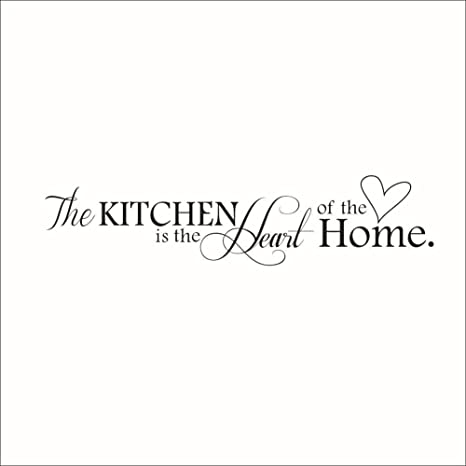 Amazon Com The Kitchen Is Heart Of Home Quotes And Sayings Wall Decal Art Decor Stickers Dining