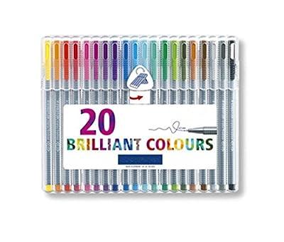 TUOBU Unique 20Pcs Colour Fibre-Tip Assorted Colours Pens