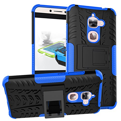 LeEco Le S3 Case, Le 2 Case - Heavy Duty Rugged Impact 2 in 1 Hybrid Case Soft Hard Double Protection Shockproof with Kickstand Back Cover for Letv LeEco Le S3 x626/Le 2/Le 2 Pro (Blue)