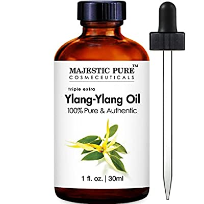Majestic Pure Ylang Ylang Essential Oil, 100% Pure and Natural Therapeutic Grade, 1 Fluid Ounce by Majestic Pure