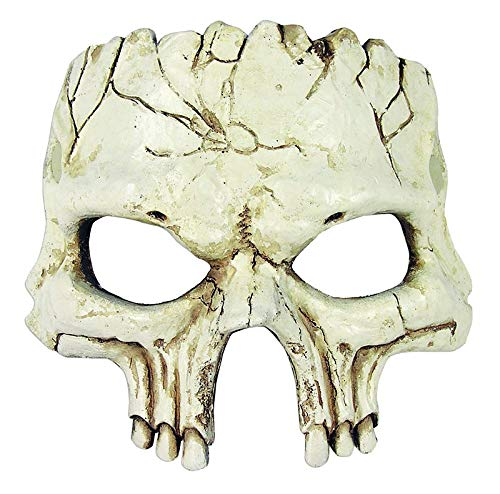Forum Novelties Unisex-Adult's Half Mask-Foam Skull, Multi, Standard -