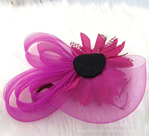 Sky Navy Wedding Women CaliaDress Hair Blue Cocktail Hat Clip Blue Clip Party Fascinator C008TS Flower wPwOqgn