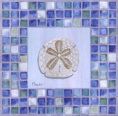 Mosaic Sanddollar by Paul Brent - 12x12 Inches - Art Print Poster