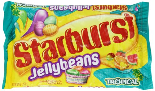 (Starburst Jelly Bean Tropical Fruit - 14 Ounce/bag - Two Bag)