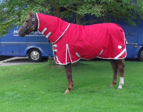 Red 7 ft 6 Red 7 ft 6 Heavyweight Detachable Neck Turnout Rug