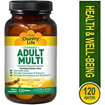 Country Life Chewable Adult Multi - with Antioxidants and Activated B Vitamins - 120 Wafers