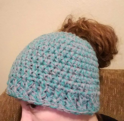 Crochet Messy Bun Ponytail Hat by Shay's Crochet Creation