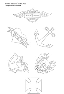 product image for BADGER Totally Tattoo Body Art Stencils Masculine Theme Pack
