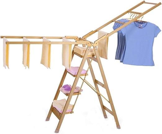 RMXMY Colgador de Secado de escaleras de Uso doméstico Perchero Plegable Multifuncional de Doble Uso Parrilla de Secado de Dos Balcones: Amazon.es: Hogar