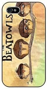 diy phone caseiphone 5/5s The beatowls - black plastic case / Animals and Nature, owl, owls, beatlesdiy phone case