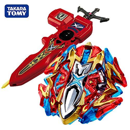 Takara Tomy Beyblade Burst Starter B-120 Buster Xcalibur 1'.Sw Beyblades Set with B-94 Bey Digital Sword Launcher Red