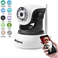 Mingyoushi Wifi Wireless IP Security Network Camera Baby/Nanny Monitoring HD Surveillance Cameras Night Vision plug/play Pan/Tilt with Two-Way Audio Suport TF Card QR Code Scan Easy Installation