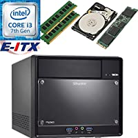 Shuttle SH110R4 Intel Core i3-7100 (Kaby Lake) XPC Cube System , 16GB Dual Channel DDR4, 480GB M.2 SSD, 1TB HDD, DVD RW, WiFi, Bluetooth, Pre-Assembled and Tested by E-ITX