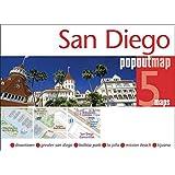 San Diego PopOut Map - handy, pocket size San Diego pop up city map(Popout Maps)