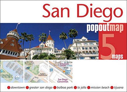 San Diego PopOut Map (Popout Maps)