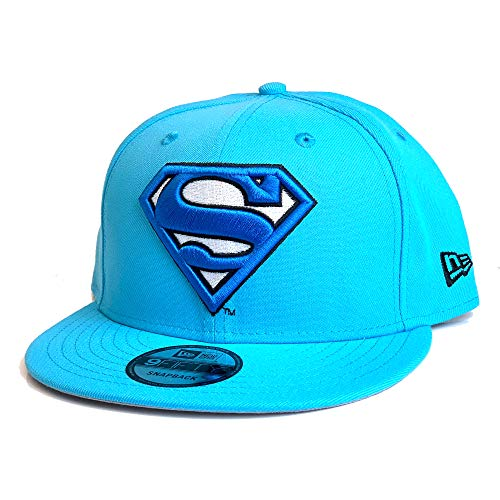 New Era Skate - New Era 9FIFTY DC Superman Logo 950 Snapback Cap - Neon Blue - One Size