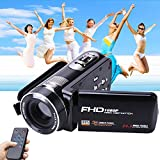 "Camera Camcorder with IR Night Vision, Weton 3.0"" LCD Touch Screen Digital Video Camera Full HD 1080p 24.0MP Pixels 18x Digital Zoom Mini DV with Remote Control (Two Batteries included)"