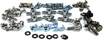 """2 Bolt Kits for 6"""" cleats • through-bolt style • Stainless • NUTS /& BOLTS ONLY"""