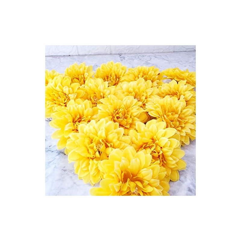 "silk flower arrangements trvancat silk marigold flower heads 15pcs, 4"" artificial marigold flowers for flower arrangements party decor"