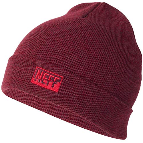 - NEFF Men's Thermal dye Beanie, Sangria/red One Size