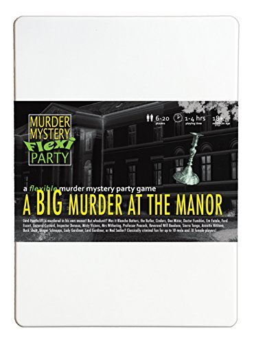 Murder Mystery Flexi Party A Big Murder at The Manor 6-20 Player -