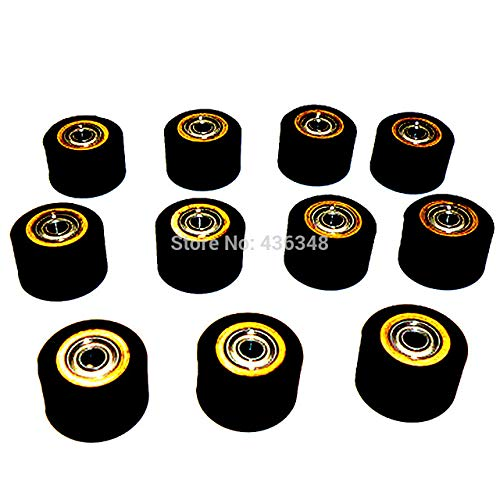 FINCOS 1/2/3/4/5/6/10pcs 3mmx11mmx16mm Pinch Roller Wheel for Roland Vinyl Plotter Cutter Extra Long Life Wheel Bearing Paper - (Color: 10pcs) by FINCOS (Image #1)