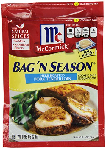 Tenderloin Pork Oven (McCormick Bag 'n Season Herb Roasted Pork Tenderloin Cooking Bag & Seasoning Mix, 0.92 oz (Pack of 6))