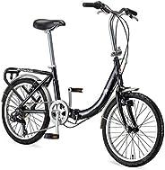 Schwinn Loop Adult Folding Bicycle, 20-Inch Wheels, 7-Speed