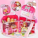 女孩甜心提包屋儿童迷你过家家厨房玩具公主娃娃城堡智趣生日礼物春节礼物 (迷你宠物店)