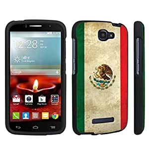 linJUN FENGDuroCase ? Alcatel OneTouch Fierce 2 7040T (2014 Released) Hard Case Black - (Mexico Flag)
